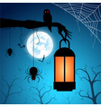 blue background and festival hallowee vector image vector image