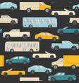 bright seamless pattern with cars vector image vector image