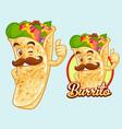 burrito mascot design vector image vector image