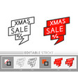 christmas banner bubble xmas sale linear icon vector image vector image