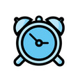 clock icon isolated on white background from tab vector image vector image