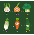 Collection of cartoon vegetables vector image vector image
