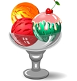 colorful tasty isolated ice cream vector image