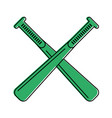 crossed baseball bats sport or fitness related vector image vector image