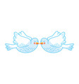 cute doves flying icon vector image vector image