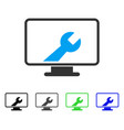 desktop options flat icon vector image vector image