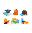 different school supplies set educational vector image