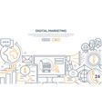 digital marketing - modern line design style web vector image vector image