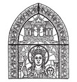 early french window at chartres vintage engraving vector image vector image