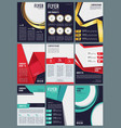 editable brochure business flyers ads in magazine vector image vector image