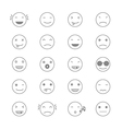 Emoticons Collection Set of Emoji Flat monochrome vector image vector image