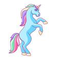 fantasy pretty unicorn with colorful mane vector image