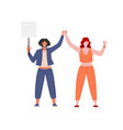 female protesters and activists vector image