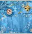 festive christmas background vector image