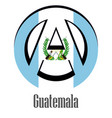flag of guatemala of the world in the form of a vector image vector image