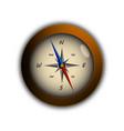 flat compass traveler modern design vector image vector image