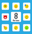 flat icon emoji set of cross-eyed face have an vector image vector image