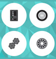flat service set of automatic transmission belt vector image vector image