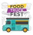 food truck party invitation menu template vector image