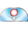 Futuristic label vector image
