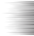 Horizontal speed lines for comic books vector image vector image