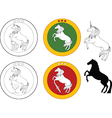 Horse beer label vector image vector image
