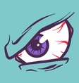 in anger eyeball icon hand drawn style vector image