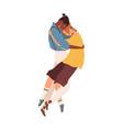 interracial lgbt couple young men hugging vector image vector image