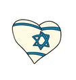 israel heart patriotic symbol vector image vector image