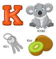 k alphabet vector image