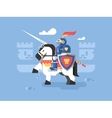 Knight on horseback character vector image vector image