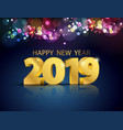 lights bokeh colorful background with party 2019 vector image