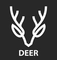 line icon of deer head vector image