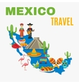 Map Mexico Background vector image vector image