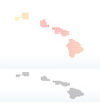 Map of USA Hawaii State with Dot Pattern vector image vector image