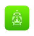mining lamp icon green vector image
