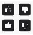 modern thumb up icons set vector image
