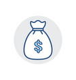 money bag icon bank cash finance fund tax icon vector image vector image