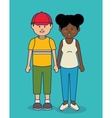 multicultural people avatars icon vector image