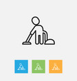 of cleanup symbol on worker vector image vector image