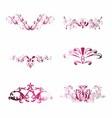 Pink Vintage Floral Design Element vector image vector image