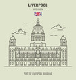 port of liverpool building in liverpool vector image vector image