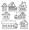 Private houses vector image