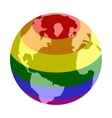 Rainbow planet isometric 3d icon vector image vector image