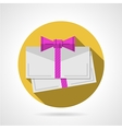 Round flat icon for gift card vector image vector image