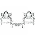 Royal Armchair and table set vector image vector image