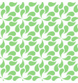 seamless abstract green leaves pattern vector image vector image