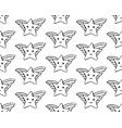 seamless pattern cartoon star drawn with a black vector image vector image
