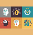 set of business backgrounds vector image