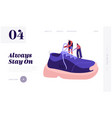 shoes for training fashion website landing page vector image